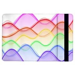 Twizzling Brain Waves Neon Wave Rainbow Color Pink Red Yellow Green Purple Blue Ipad Air Flip by Alisyart