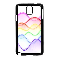 Twizzling Brain Waves Neon Wave Rainbow Color Pink Red Yellow Green Purple Blue Samsung Galaxy Note 3 Neo Hardshell Case (black)