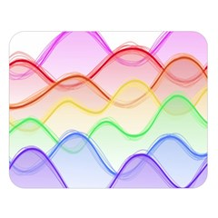 Twizzling Brain Waves Neon Wave Rainbow Color Pink Red Yellow Green Purple Blue Double Sided Flano Blanket (large)  by Alisyart