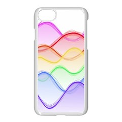 Twizzling Brain Waves Neon Wave Rainbow Color Pink Red Yellow Green Purple Blue Apple Iphone 7 Seamless Case (white)