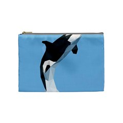 Whale Animals Sea Beach Blue Jump Illustrations Cosmetic Bag (medium)  by Alisyart