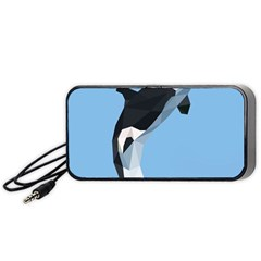 Whale Animals Sea Beach Blue Jump Illustrations Portable Speaker (black) by Alisyart