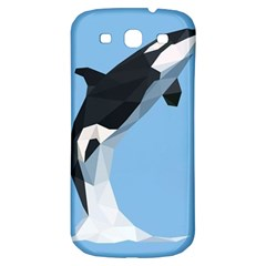 Whale Animals Sea Beach Blue Jump Illustrations Samsung Galaxy S3 S Iii Classic Hardshell Back Case by Alisyart