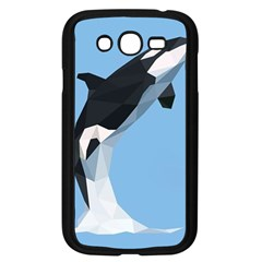 Whale Animals Sea Beach Blue Jump Illustrations Samsung Galaxy Grand Duos I9082 Case (black) by Alisyart