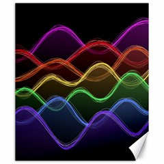 Twizzling Brain Waves Neon Wave Rainbow Color Pink Red Yellow Green Purple Blue Black Canvas 20  X 24   by Alisyart