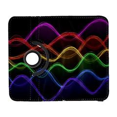 Twizzling Brain Waves Neon Wave Rainbow Color Pink Red Yellow Green Purple Blue Black Galaxy S3 (flip/folio) by Alisyart