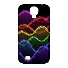 Twizzling Brain Waves Neon Wave Rainbow Color Pink Red Yellow Green Purple Blue Black Samsung Galaxy S4 Classic Hardshell Case (pc+silicone) by Alisyart
