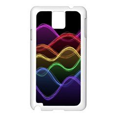 Twizzling Brain Waves Neon Wave Rainbow Color Pink Red Yellow Green Purple Blue Black Samsung Galaxy Note 3 N9005 Case (white) by Alisyart