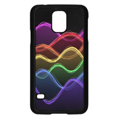Twizzling Brain Waves Neon Wave Rainbow Color Pink Red Yellow Green Purple Blue Black Samsung Galaxy S5 Case (black) by Alisyart