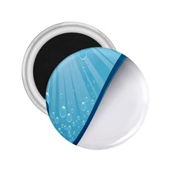 Water Bubble Waves Blue Wave 2 25  Magnets by Alisyart