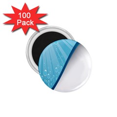 Water Bubble Waves Blue Wave 1 75  Magnets (100 Pack)  by Alisyart