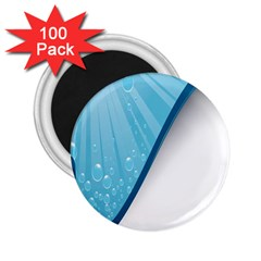 Water Bubble Waves Blue Wave 2 25  Magnets (100 Pack)  by Alisyart