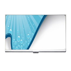 Water Bubble Waves Blue Wave Business Card Holders by Alisyart