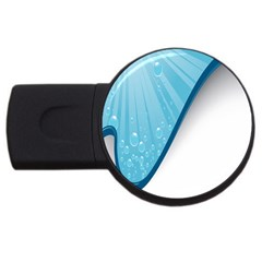 Water Bubble Waves Blue Wave Usb Flash Drive Round (2 Gb) by Alisyart
