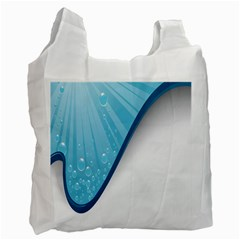 Water Bubble Waves Blue Wave Recycle Bag (one Side) by Alisyart