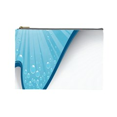 Water Bubble Waves Blue Wave Cosmetic Bag (large)  by Alisyart
