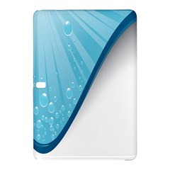 Water Bubble Waves Blue Wave Samsung Galaxy Tab Pro 10 1 Hardshell Case by Alisyart