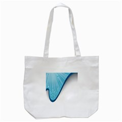 Water Bubble Waves Blue Wave Tote Bag (white) by Alisyart