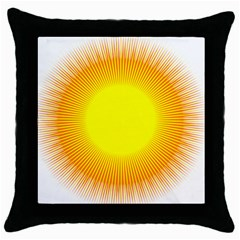 Sunlight Sun Orange Yellow Light Throw Pillow Case (black) by Alisyart