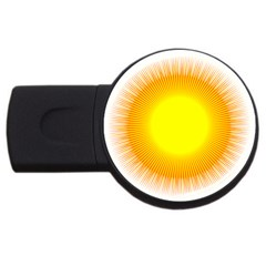 Sunlight Sun Orange Yellow Light Usb Flash Drive Round (2 Gb) by Alisyart