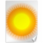 Sunlight Sun Orange Yellow Light Canvas 36  x 48   48 x36 Canvas - 1