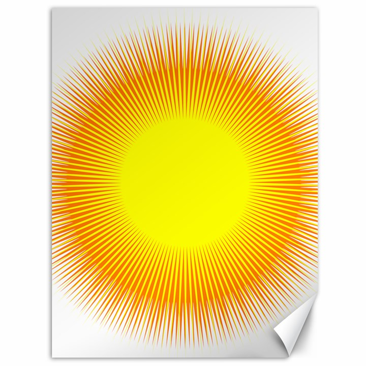 Sunlight Sun Orange Yellow Light Canvas 36  x 48