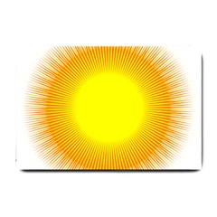 Sunlight Sun Orange Yellow Light Small Doormat  by Alisyart