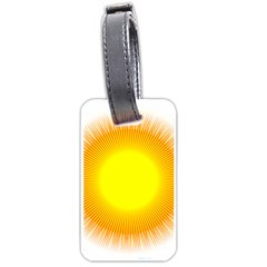 Sunlight Sun Orange Yellow Light Luggage Tags (two Sides) by Alisyart