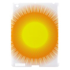 Sunlight Sun Orange Yellow Light Apple Ipad 3/4 Hardshell Case (compatible With Smart Cover) by Alisyart