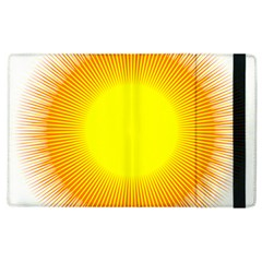 Sunlight Sun Orange Yellow Light Apple Ipad 2 Flip Case by Alisyart