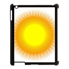 Sunlight Sun Orange Yellow Light Apple Ipad 3/4 Case (black) by Alisyart