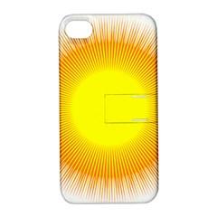 Sunlight Sun Orange Yellow Light Apple Iphone 4/4s Hardshell Case With Stand by Alisyart