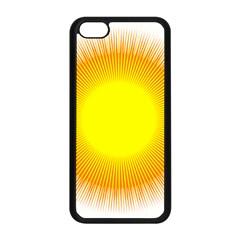 Sunlight Sun Orange Yellow Light Apple Iphone 5c Seamless Case (black) by Alisyart