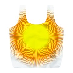 Sunlight Sun Orange Yellow Light Full Print Recycle Bags (l)  by Alisyart