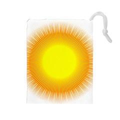 Sunlight Sun Orange Yellow Light Drawstring Pouches (large)  by Alisyart