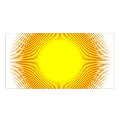 Sunlight Sun Orange Yellow Light Satin Shawl by Alisyart
