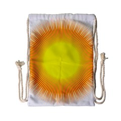 Sunlight Sun Orange Yellow Light Drawstring Bag (small) by Alisyart