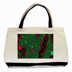Reaction Diffusion Green Purple Basic Tote Bag (two Sides) by Alisyart