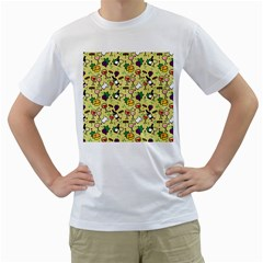 Wine Cheede Fruit Purple Yellow Men s T-Shirt (White) (Two Sided)