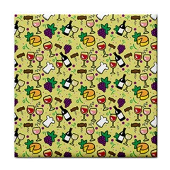 Wine Cheede Fruit Purple Yellow Face Towel by Alisyart
