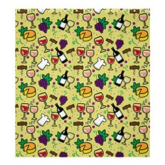 Wine Cheede Fruit Purple Yellow Shower Curtain 66  X 72  (large)  by Alisyart