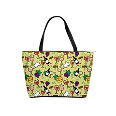 Wine Cheede Fruit Purple Yellow Shoulder Handbags by Alisyart