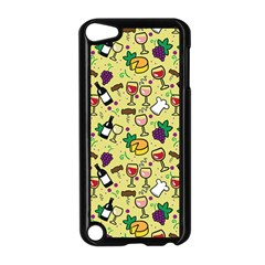 Wine Cheede Fruit Purple Yellow Apple Ipod Touch 5 Case (black) by Alisyart