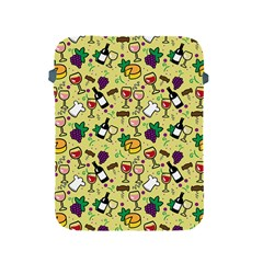 Wine Cheede Fruit Purple Yellow Apple Ipad 2/3/4 Protective Soft Cases by Alisyart