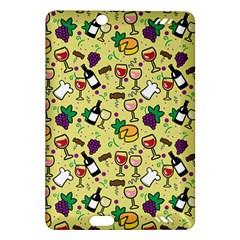 Wine Cheede Fruit Purple Yellow Amazon Kindle Fire Hd (2013) Hardshell Case by Alisyart
