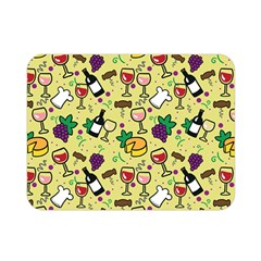 Wine Cheede Fruit Purple Yellow Double Sided Flano Blanket (mini)  by Alisyart
