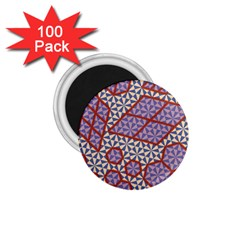 Triangle Plaid Circle Purple Grey Red 1 75  Magnets (100 Pack)  by Alisyart