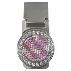 Triangle Plaid Circle Purple Grey Red Money Clips (cz)  by Alisyart