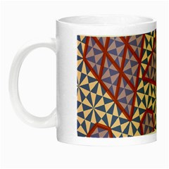 Triangle Plaid Circle Purple Grey Red Night Luminous Mugs by Alisyart