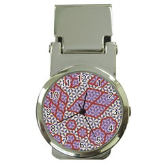 Triangle Plaid Circle Purple Grey Red Money Clip Watches by Alisyart
